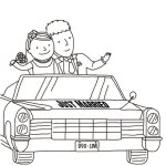 just-married-car-coloring-books