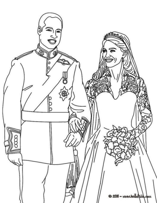 kate-and-william-wedding-coloring-page