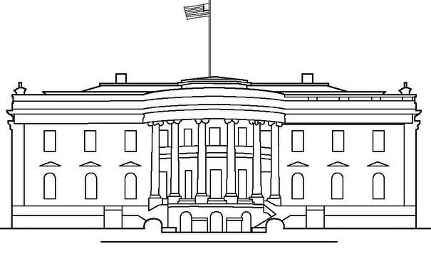 white-house-coloring-picture