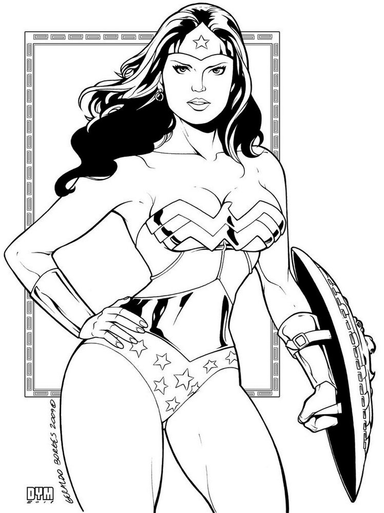 Super-Girls-Gal-Gadot-Wonder-Woman-Coloring-Pages-HD