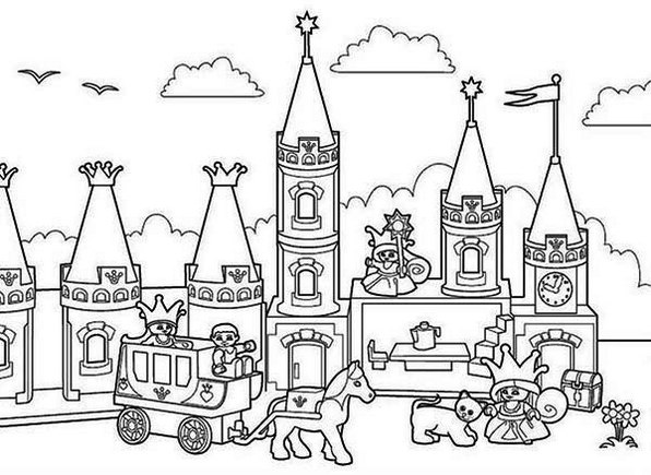 disney rides coloring pages | Disney Magic Kingdom Coloring Pages Sketch Coloring Page