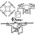 UAV Drone Coloring Page