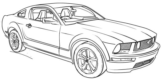 car mustang coloring pages | 2018 Ford Mustang Coloring Pages - Coloring Pages