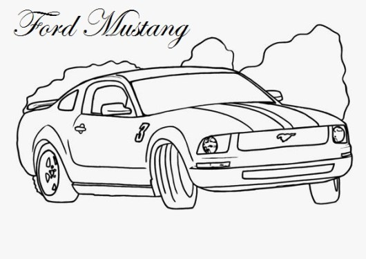 ford mustang coloring page printable - Mustang Coloring Pages