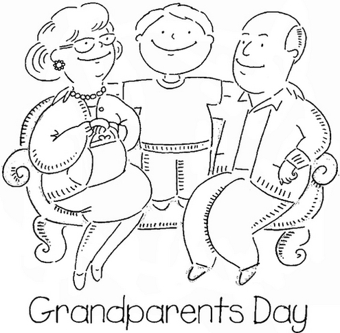 grandparents coloring sheet coloring pages