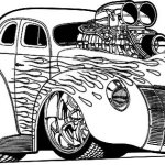 Hot Rod Coloring Page To Print