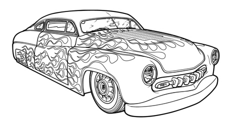 hot rod race car coloring pages printable - Cars Coloring Pages Printable