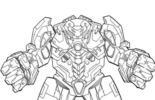 Hulkbuster Armor Coloring Pages Coloring Pages