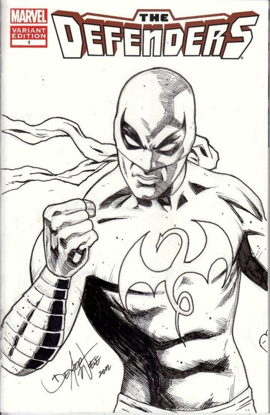 Iron Fist The Defenders Coloring Page