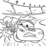 Lightning Mcqueen From Cars Disney Coloring Page