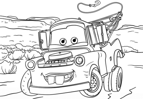 Mater Coloring Page Printable