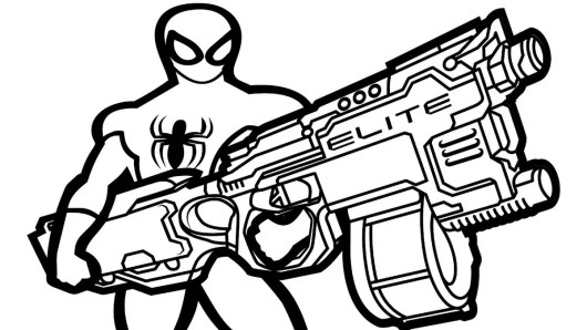 Nerf Gun Coloring Pages Coloring Pages