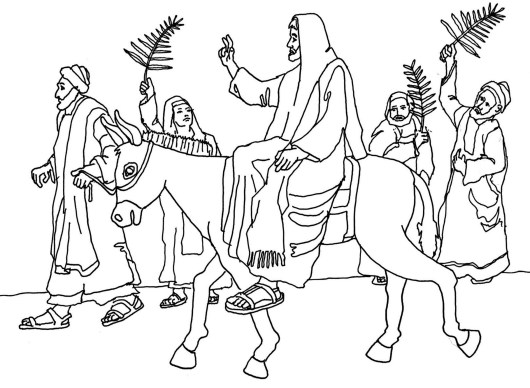 Palm Sunday Easter Coloring Page