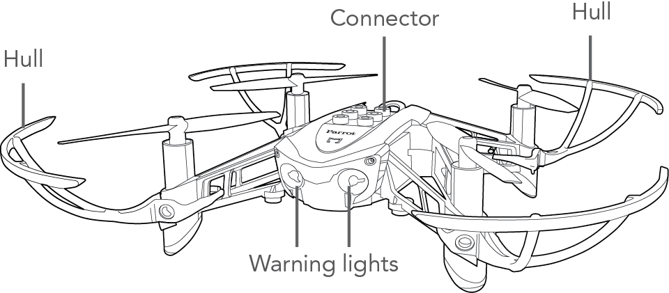 Parts Of Drone Coloring Page