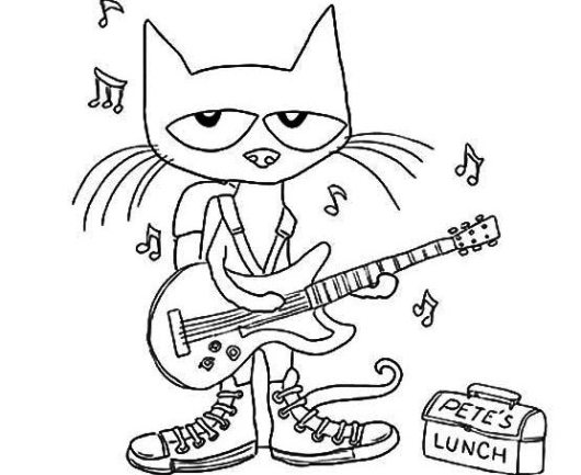 Free Pete The Cat Coloring Sheets