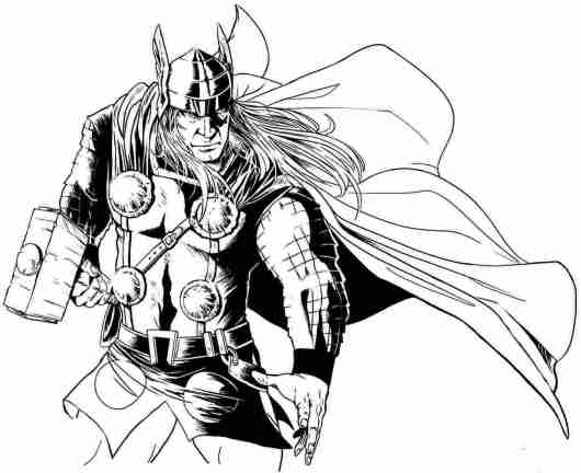 Thor Marvel Coloring Pages Coloring Pages