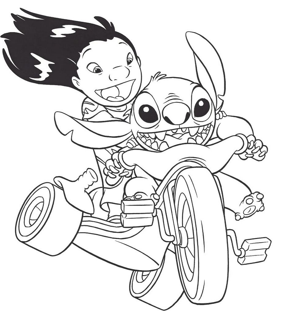 Lilo And Stitch Coloring Book Cover Disney