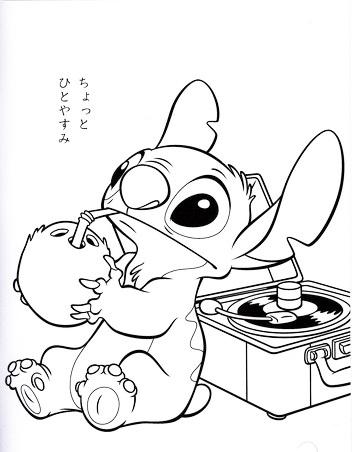 Stitch Wiki Disney Coloring Page