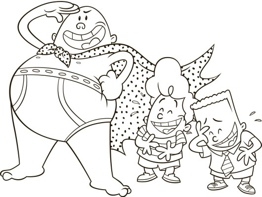 Captain Underpants Coloring Pages For Kids