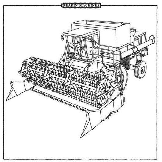 Combine Harvester Coloring Pages