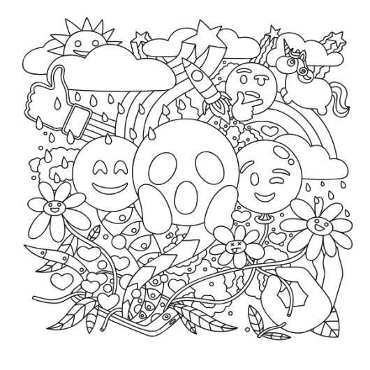 Emoji coloring pages coloring pages for Emoji coloring pages