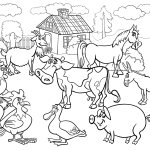 Farm Animals Coloring Pages To Educate Kids Livestock
