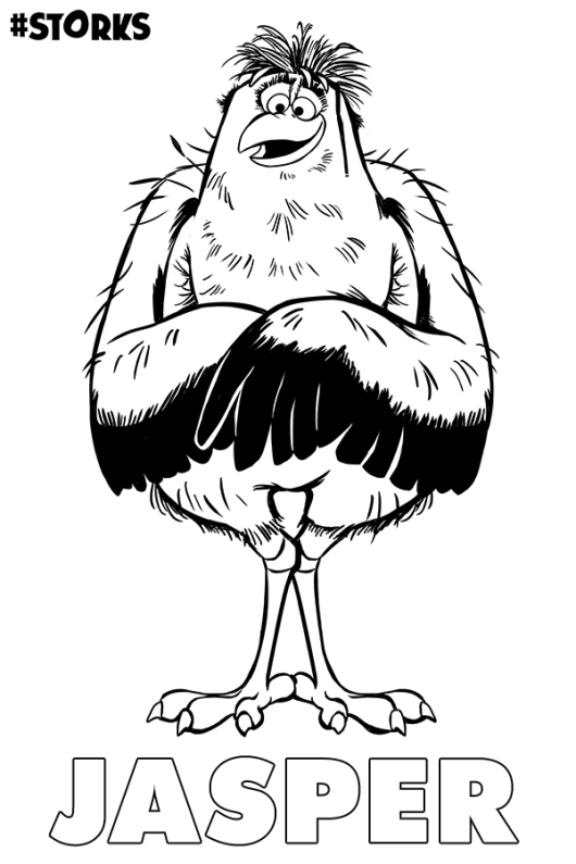 Jasper From Storks Coloring Pages