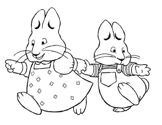 Max And Ruby Coloring Pages Printable - Eskayalitim