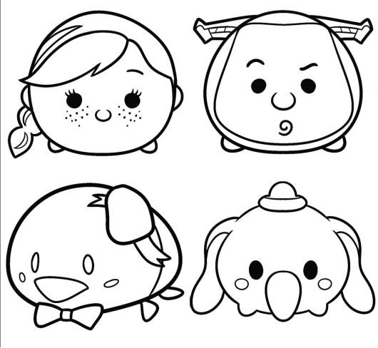 Printable Disney Tsum Tsum Coloring Page