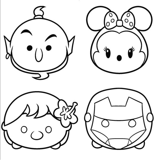 Disney tsum tsum coloring pages coloring pages for Tsum tsum coloring pages