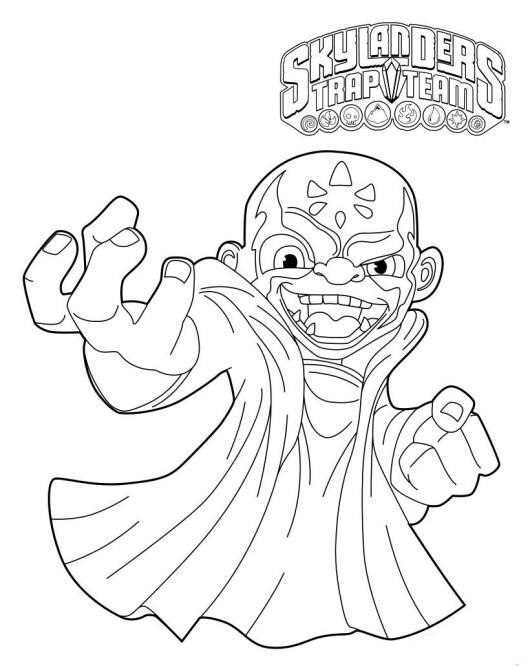 Skylanders Character Coloring Page