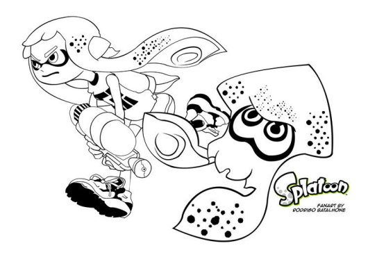 Image Result For Splatoon Inkling Coloring Page