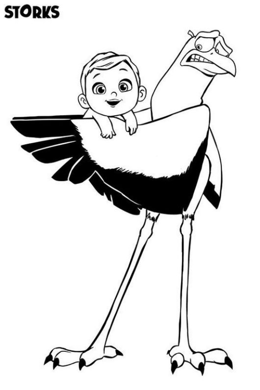 Storks Characters Coloring Pages