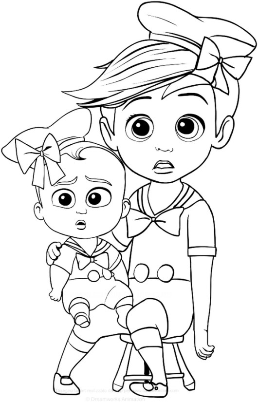 the baby boss coloring pages printable
