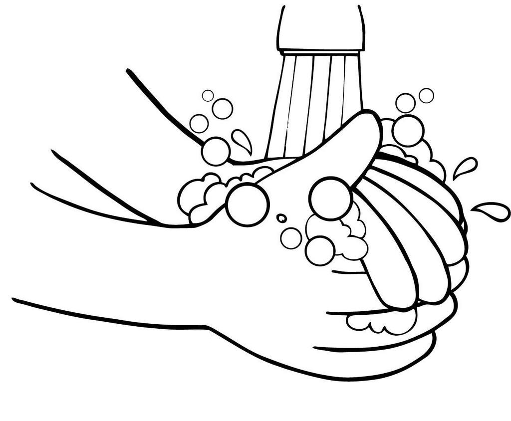 Washing Hand Coloring Page