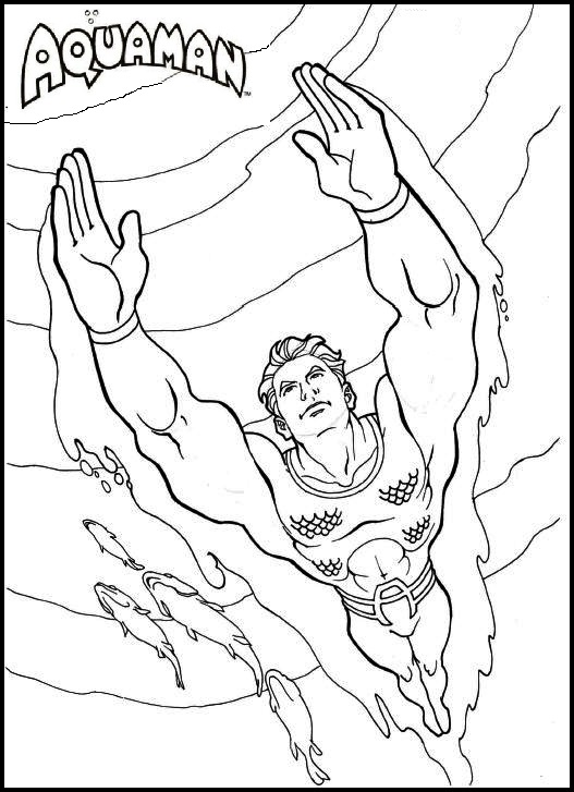 Aquaman Coloring Pages Printable