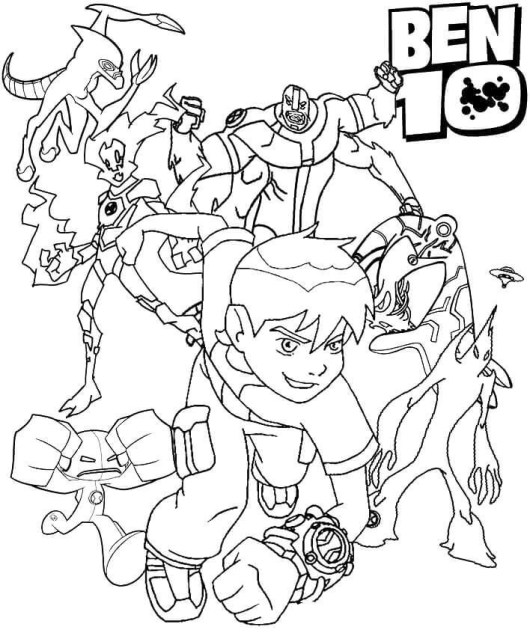 New Pictures of Ben 10 Coloring Pages for Boys - Coloring Pages