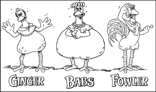 4 Great Chicken Run Coloring Pages - Coloring Pages