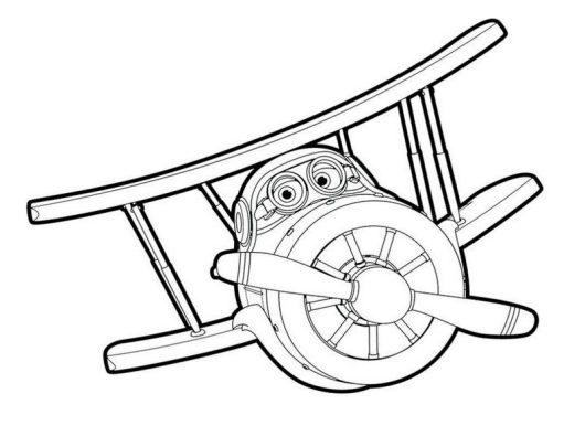 Grand Albert Daalji Super Wings Coloring Page