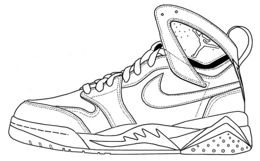 Nike Shoes Coloring and Sketch