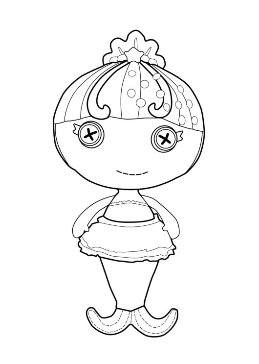 Ocean seabreeze mermaid lalaloopsy coloring page