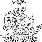 Pj Masks Team Coloring Page