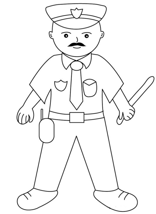 Printable Policeman Coloring Pages
