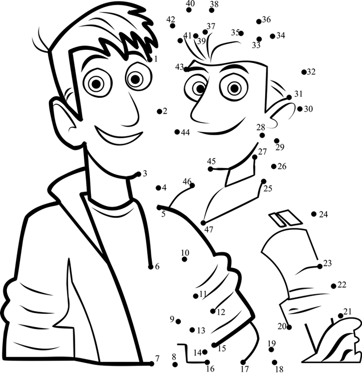 Wild Kratts Connect The Dots Page