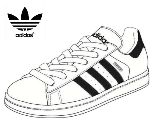 Adidas Tennis Shoes Coloring Page