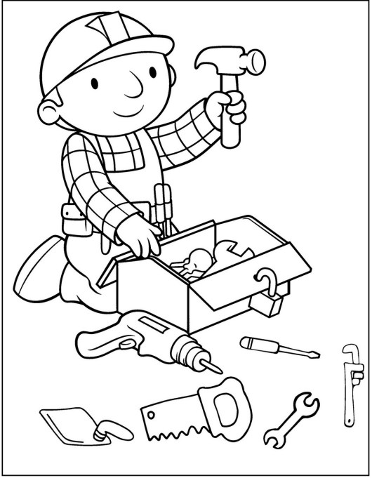 bob the builder coloring and activity page