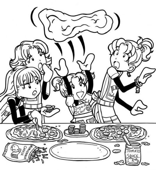 Dork Diaries Cooking Time Coloring Pages For Girls