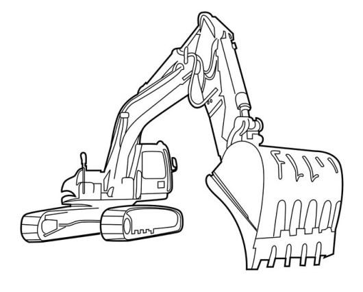 Excavator Coloring Sheet Printable