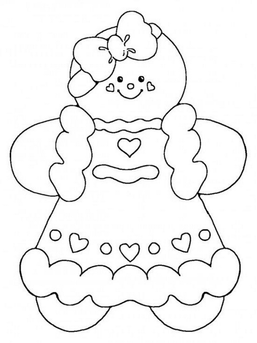 Gingerbread Man Coloring Pages Clip Art Pictures