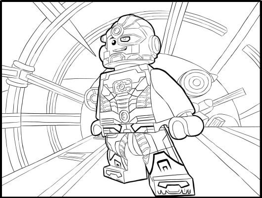 Lego Cyborg Coloring Sheet